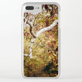 White Branch Clear iPhone Case