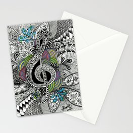 Musical Zentangle Stationery Cards