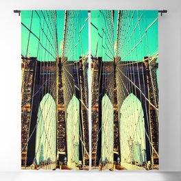 East river Brooklyn bridge Blackout Curtain