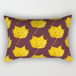 Fancy Watercolor Yellow Autumn Leaf Rectangular Pillow