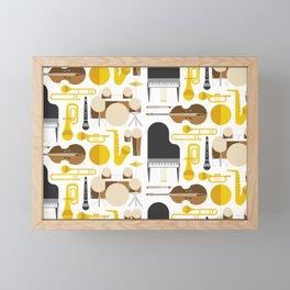 Jazz instruments Framed Mini Art Print