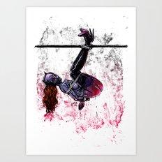 Bondage Catwoman Art Print