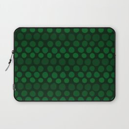 Emerald Green Subtle Gradient Dots Laptop Sleeve