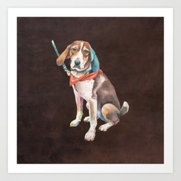American English Coonhound Art Print