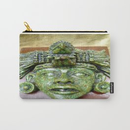 Malachite Aztec mask Carry-All Pouch