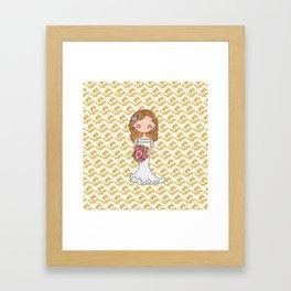 Wedding Bell Bride Framed Art Print