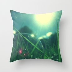 A Bubble's Perspective Throw Pillow