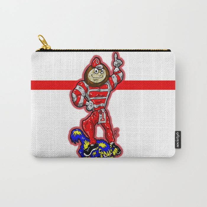 B-r-u-t-u-s  from THE Ohio State University Buckeyes, beating DOWN The Michigan W-o-l-v-e-r-i-n-e-s! Carry-All Pouch