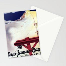 retro retro caux jaman naye montreux territet schweiz poster Stationery Cards