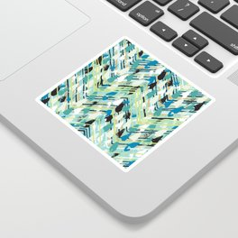 Chevron print with colorful stripes and lines Sticker