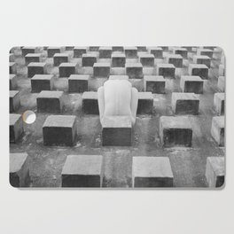Nude Woman and Concrete Blocks Cutting Board