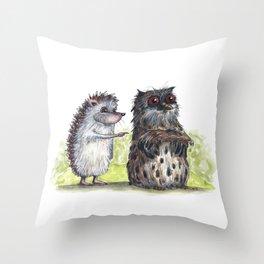 Hedgehog's here Throw Pillow