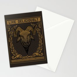 Live Deliciously Stationery Cards
