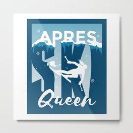 Ski Queen Ski Queen Skiing Gift Metal Print