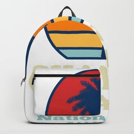 Vintage Channel Islands California National Park Hoodie Backpack