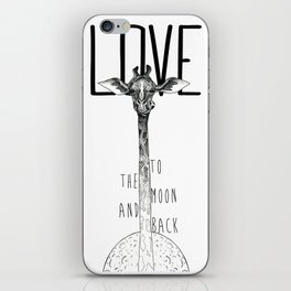 LOVE TO THE MOON AND BACK iPhone Skin