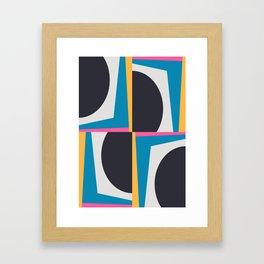 Modern Geometric 65 Blue Framed Art Print
