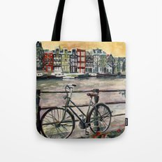 Going Dutch (blue) Tote Bag