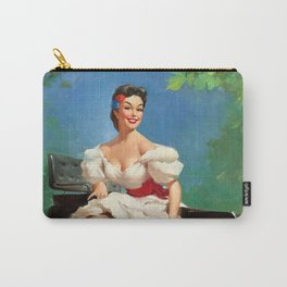 Pin Up Girl and Antique Car Carry-All Pouch