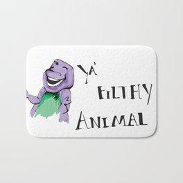 Barney Ya' Filthy Animal  Bath Mat
