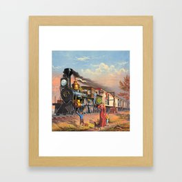 The Fast Mail,  1875 Framed Art Print