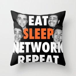 Eat Sleep NETWORK Repeat.  Throw Pillow