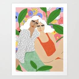 Bonding Over Plants Art Print