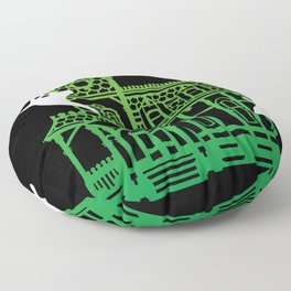Haunted Victorian House Floor Pillow