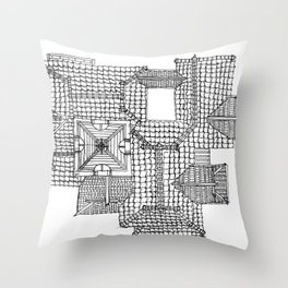 Taiwanese roofscapes 01 Throw Pillow