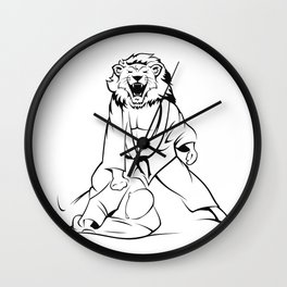Savana  jiu-jitsu Wall Clock