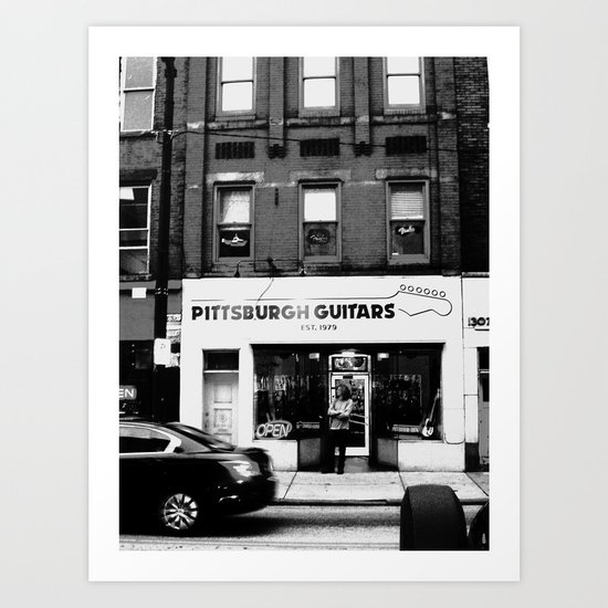 Pittsburgh Guitars Art Print