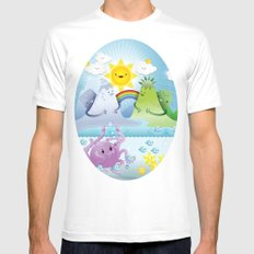 Happy land Mens Fitted Tee White MEDIUM