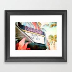 Tropical Kanpai Sports Bar Framed Art Print