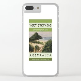 Travel Poster Zenith Beach Art Print Clear iPhone Case