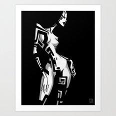 TATTOO GIRL TWO Art Print