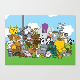 Zoe animals Canvas Print