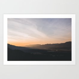 goodbye blue sky Art Print
