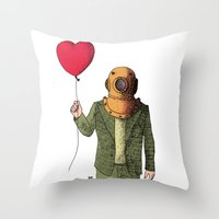 copper Throw Pillows featuring Copper by -gAe-