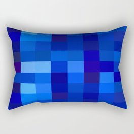 Blue Mosaic Rectangular Pillow