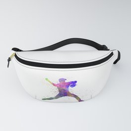 Baseball player throwing a ball 03 Fanny Pack