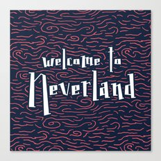 Welcome to Neverland Canvas Print