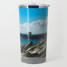 Caparica Beach Portugal Travel Mug