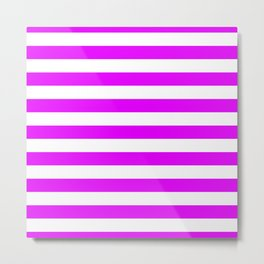 Orlando Orchid Pink Horizontal Tent Stripes Florida Colors of the Sunshine State Metal Print