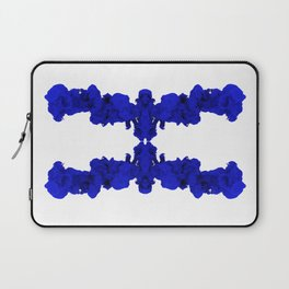 Blue Ink Drop in Water Laptop Sleeve