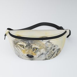 Totem Grey wolf Fanny Pack