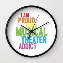 Musical Theater Pride Wall Clock