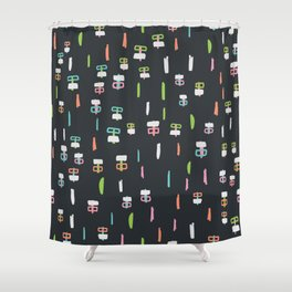 Happiness in Shapes 1 Shower Curtain