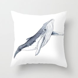 Baby humpback whale for children kid baby Throw Pillow