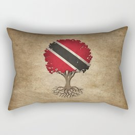 Vintage Tree of Life with Flag of Trinidad and Tobago Rectangular Pillow