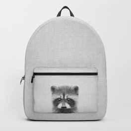 Raccoon - Black & White Backpack